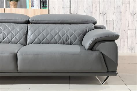 grey sofa set divani casa wolford modern grey leather sofa set