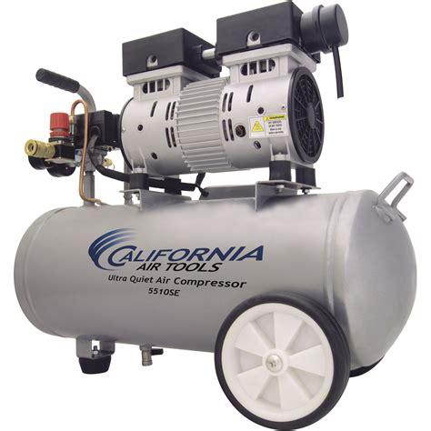 california air tools ultra portable electric air compressor 1 hp 5 5 gallon horizontal