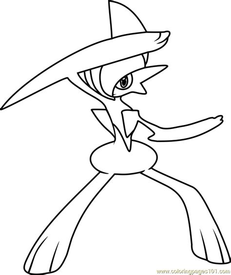 pokemon coloring pages gallade gallade pokemon coloring page free pok 233 mon coloring