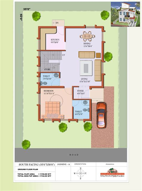 house plan for south facing plot with two bedrooms south facing house floor plans premium villas plan for