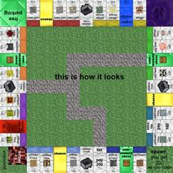 Card And Papercraft - papercraft minecraft monopoly with all the cards and money