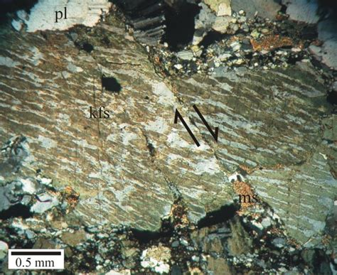 plagioclase in thin section usgs ofr03 221 thin section photomicrograph of sle