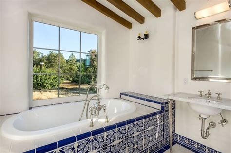 spanish tile bathroom ideas spanish style
