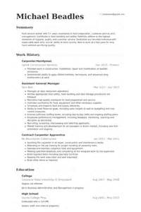 carpenter cover letter exles machine shop foreman resume