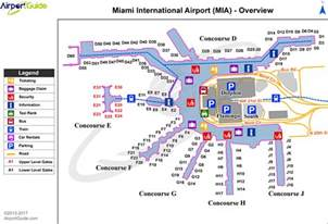 airport map miami airport map map2