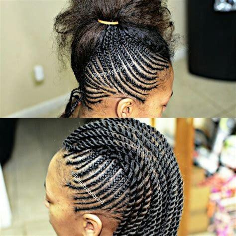 mohawk cornrows hairstyle photo design braided mohawk with rope twist nubian braids