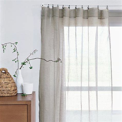 pinch pleat linen curtains sheer linen window panels from west elm cabbages window