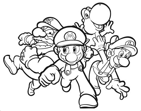 Printable Super Mario Characters Coloring Pages Rekenweb Org Mario Characters Coloring Pages