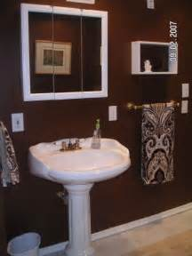 Chocolate Brown Bathroom Ideas Chocolate Brown Bathroom Build A Bathroom A Bedroom Downstairs And There Arent Any Windows
