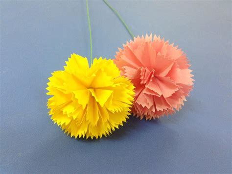 Origami Carnation Flower - how to make carnation paper flower easy origami flowers