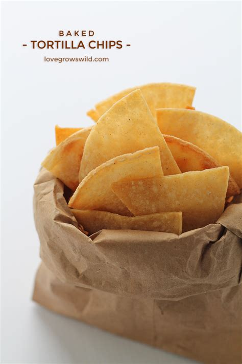Handmade Chips - baked tortilla chips recipe dishmaps