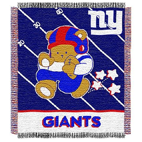 Ny Giants Crib Bedding Nfl New York Giants Woven Jacquard Baby Blanket Throw Bed Bath Beyond
