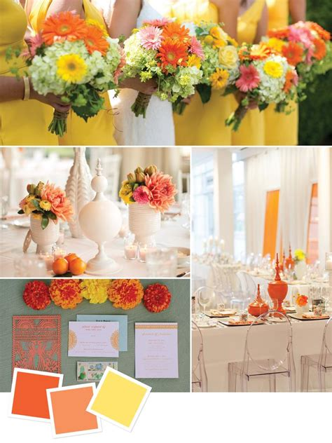 orange wedding colors 15 wedding color combos you ve never seen