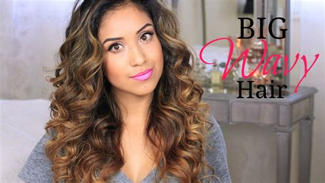 tutorial wavy hair big wavy hair tutorial give a way youtube