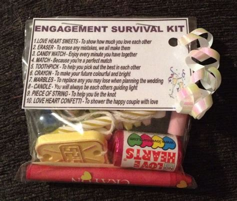 engagement survival kit unusual novelty engagement gift