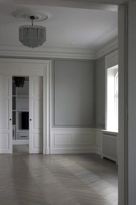Grey Wainscoting by Grey Walls With Grey Trim Wainscoting In White Space