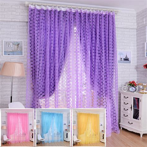 Sheer Printed Curtains 100 210cm Flower Printed Floral Voile Tulle Window Curtain Sheer Window Screen Alex Nld