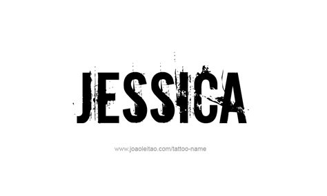 design photo with my name tattoo design name jessica 06 png