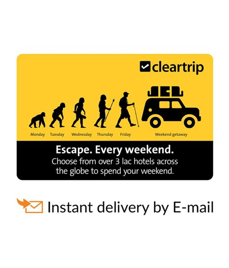 E Gift Card Online - cleartrip hotels e gift card buy online on snapdeal