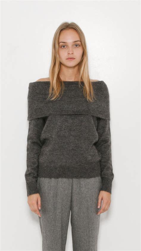 Sweater Fino designers remix fino shoulder sweater in gray lyst