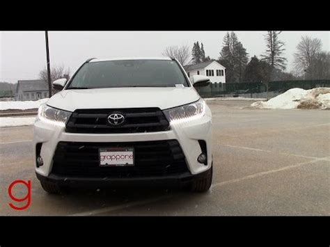 2017 toyota highlander se | snowy road test & review youtube