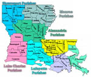 Louisiana Map With Parishes by Similiar Map Of Louisiana Parishes And Parish Seats Keywords