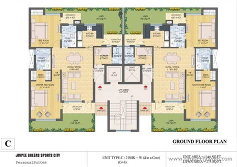 3d ground floor plan jaypee greens kassia jaypee greens sports city greater
