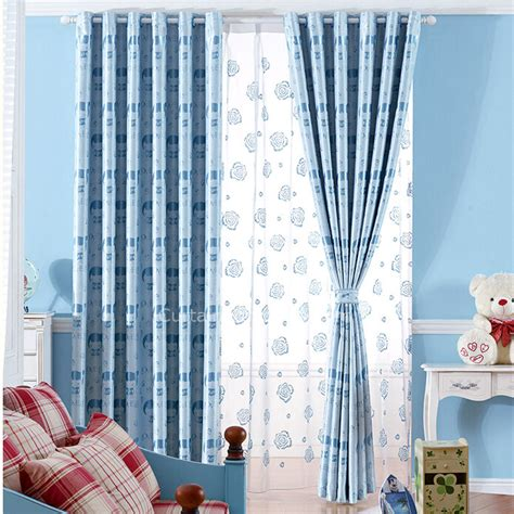 Blue Nursery Curtains Baby Pattern Insulated And Privacy Blue Nursery Curtains