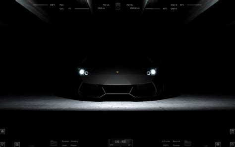 themes of black lamborghini black windows7 rainmeter theme