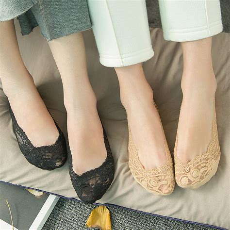 Lace No Show Socks lace boat socks silicon antiskid invisible
