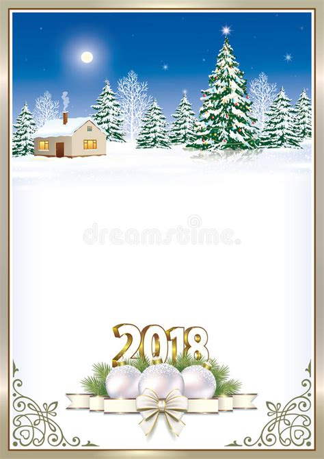 clipart buon anno buon natale e buon anno 2018 illustrazione vettoriale