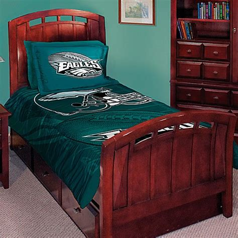 bed bath and beyond philadelphia nfl philadelphia eagles twin full comforter set bed bath