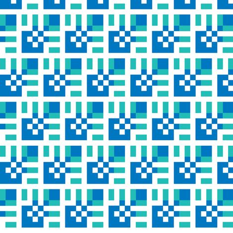 lola blueaqua small fabric patternmutation spoonflower