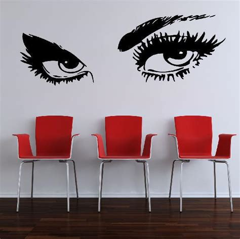 large bedroom wall stickers sexy giant eyes large bedroom wall art sticker decal