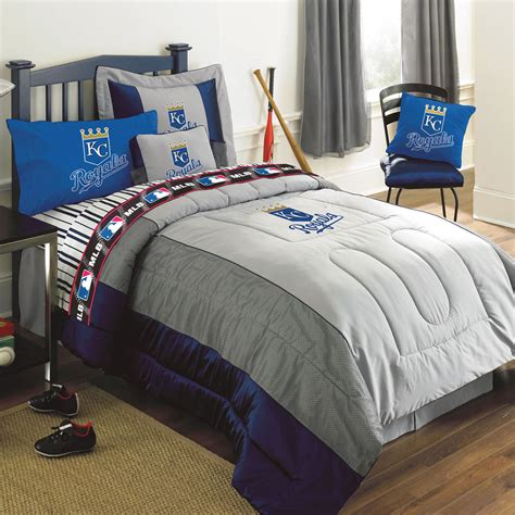 full size bed comforter sets kansas city royals mlb authentic team jersey bedding full