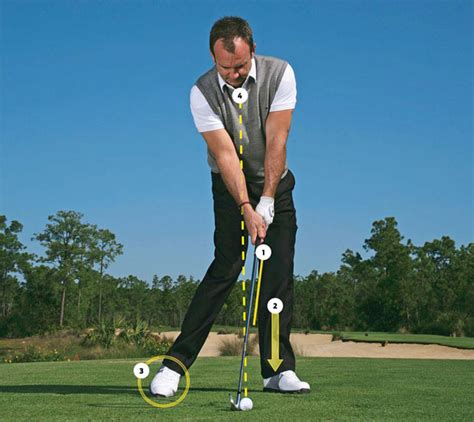 golf swing impact position 1 2 3 4 drill simulate this four point impact position