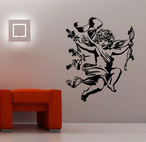 wall stickers ebay stunning cherub wall sticker vinyl quote bedroom