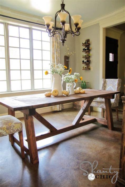 diy restoration hardware dining table shanty  chic