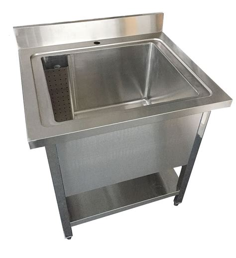 single stainless steel sink stainless steel single pot wash catering sink commercial