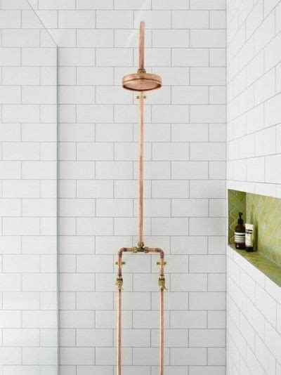 convert copper pipes from tub shower to shower terry exposed copper pipe in bathrooms kitchens the plumbette