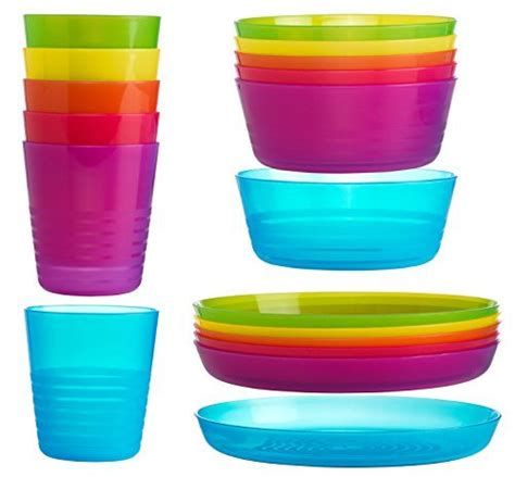 Ikea Kalas ikea kalas children color bowl tumbler and plate sets x6 each set of 18