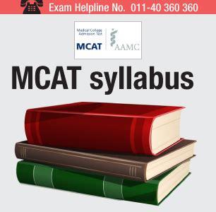 Mcat Syllabus For Mba mcat syllabus section wise syllabus check here