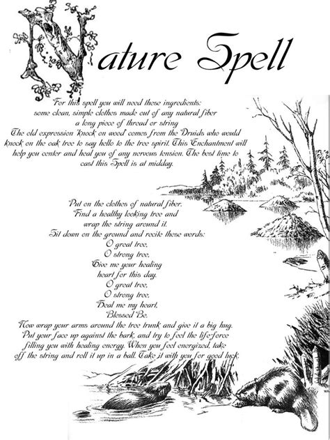 spell section a nature spell printable spell pages witches of the craft 174