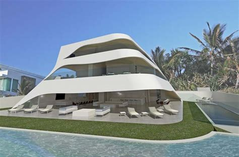 futuristic house futuristic house design like as white shells