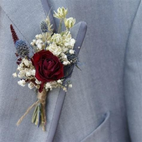 Rustic Winter Buttonholes   The Artisan Dried Flower