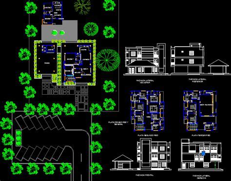 Lodge in a Rural Property 2D DWG Design Plan for AutoCAD