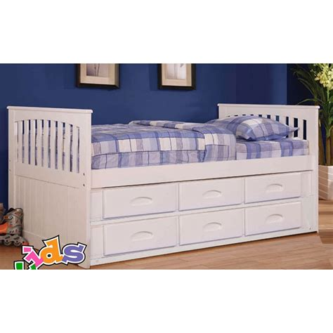 twin bed with 6 drawers white twin mission rake bed 6 drawers underbed storage white