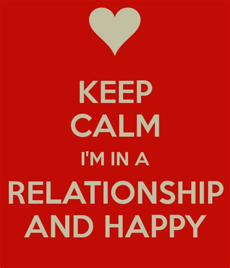 In Relationship Keep Calm I M In A Relationship And Happy Poster Michael