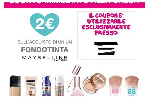 maybelline coupon 2 euro