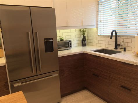 Modern Walnut Kitchen Cabinets by A Small Ikea Kitchen Let S Get Vertical Vertical